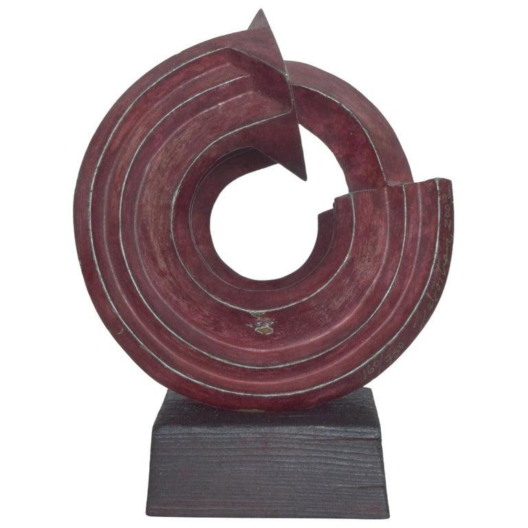 SEBASTIAN Modern Bronze Sculpture by Enrique Carbajal Gonzalez Mexico 2003 For Sale