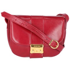 1980s Sergio Rossi Bordeaux Shoulder Bag