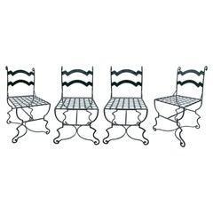 1980s Set of Four Spanish Iron Garden Chairs