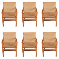 1980s Set of Six Six Rud Thygesen, Johnny Sørensen King Series Armchairs