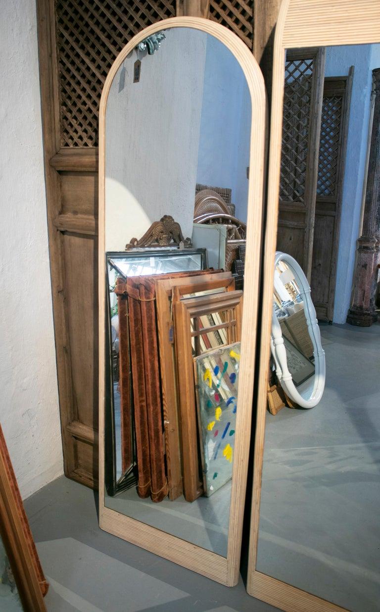 European 1980s Set of Three Designer Bamboo Mirrors For Sale