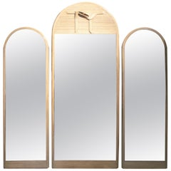 1980s Set of Three Designer Bamboo Mirrors