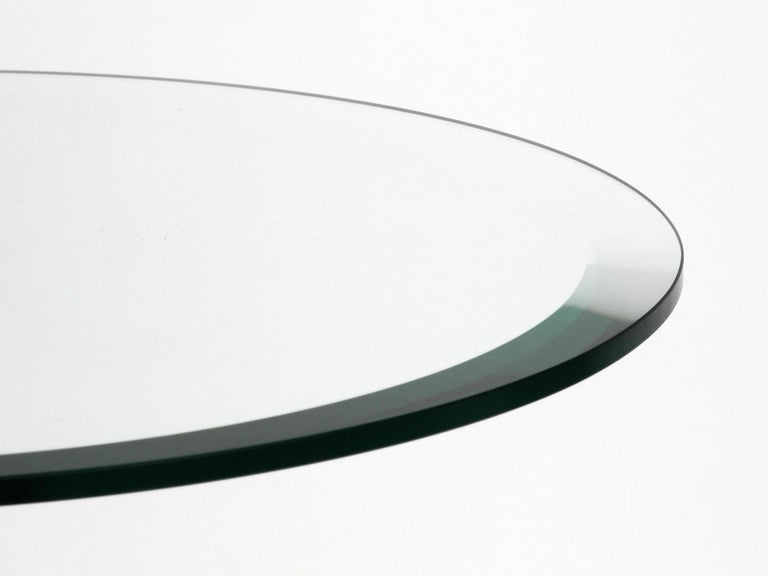 1980s Side Table Made of Glass and Marble Vico Magistretti for Cattelan Italia 3