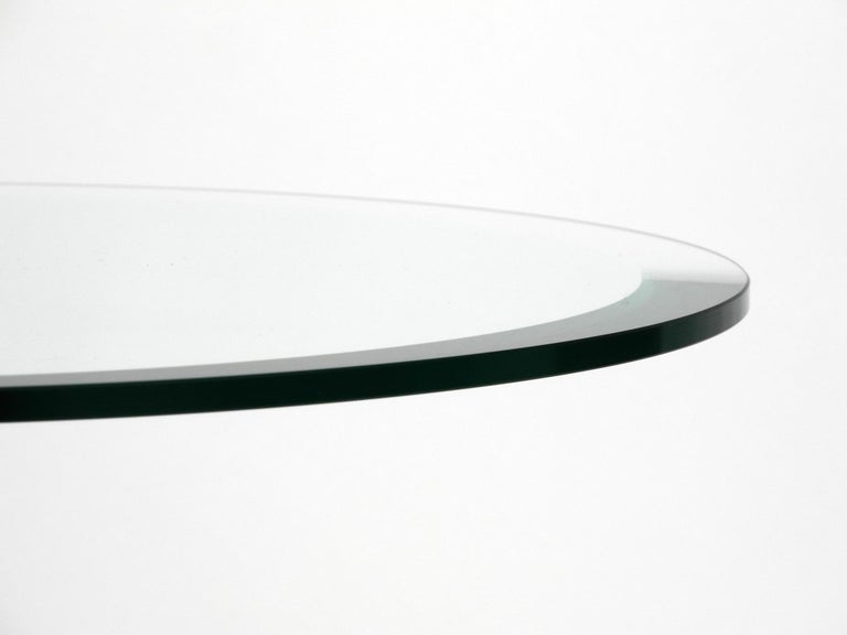 1980s Side Table Made of Glass and Marble Vico Magistretti for Cattelan Italia 4