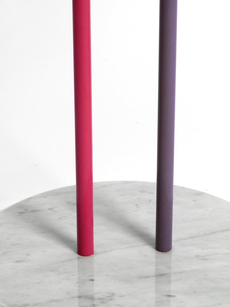 1980s Side Table Made of Glass and Marble Vico Magistretti for Cattelan Italia 5