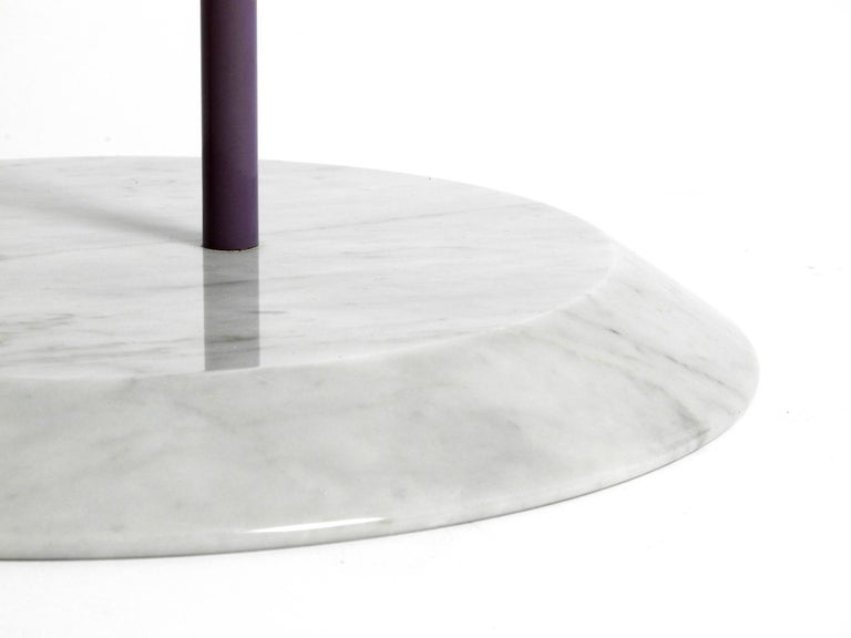 1980s Side Table Made of Glass and Marble Vico Magistretti for Cattelan Italia 6