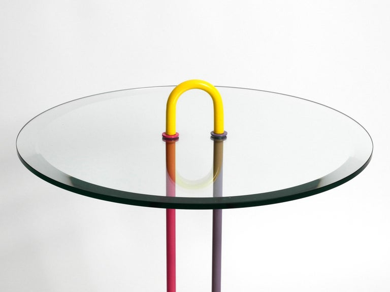 1980s Side Table Made of Glass and Marble Vico Magistretti for Cattelan Italia In Good Condition In München, DE