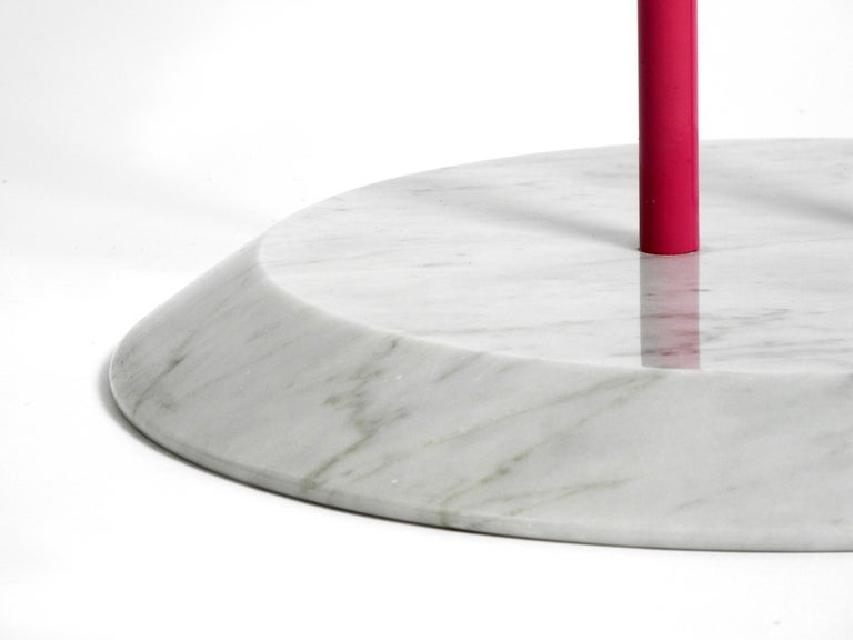 1980s Side Table Made of Glass and Marble Vico Magistretti for Cattelan Italia 2