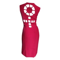 1980s Sophie Stibon Circle Cut Out Back Dress