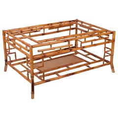 1980s Spanish Bamboo Coffee Table Base