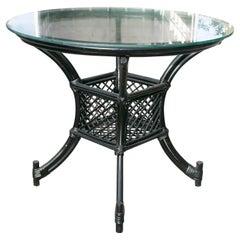 1980s Spanish Bamboo Round Table