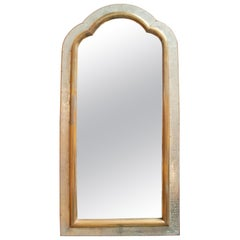 1980s Spanish Two-Tone Bronze-Plated Tall Mirror