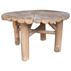 1980s Spanish Wooden Garden Table