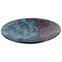 1980s Studio Pottery Bowl with Geometric Motif