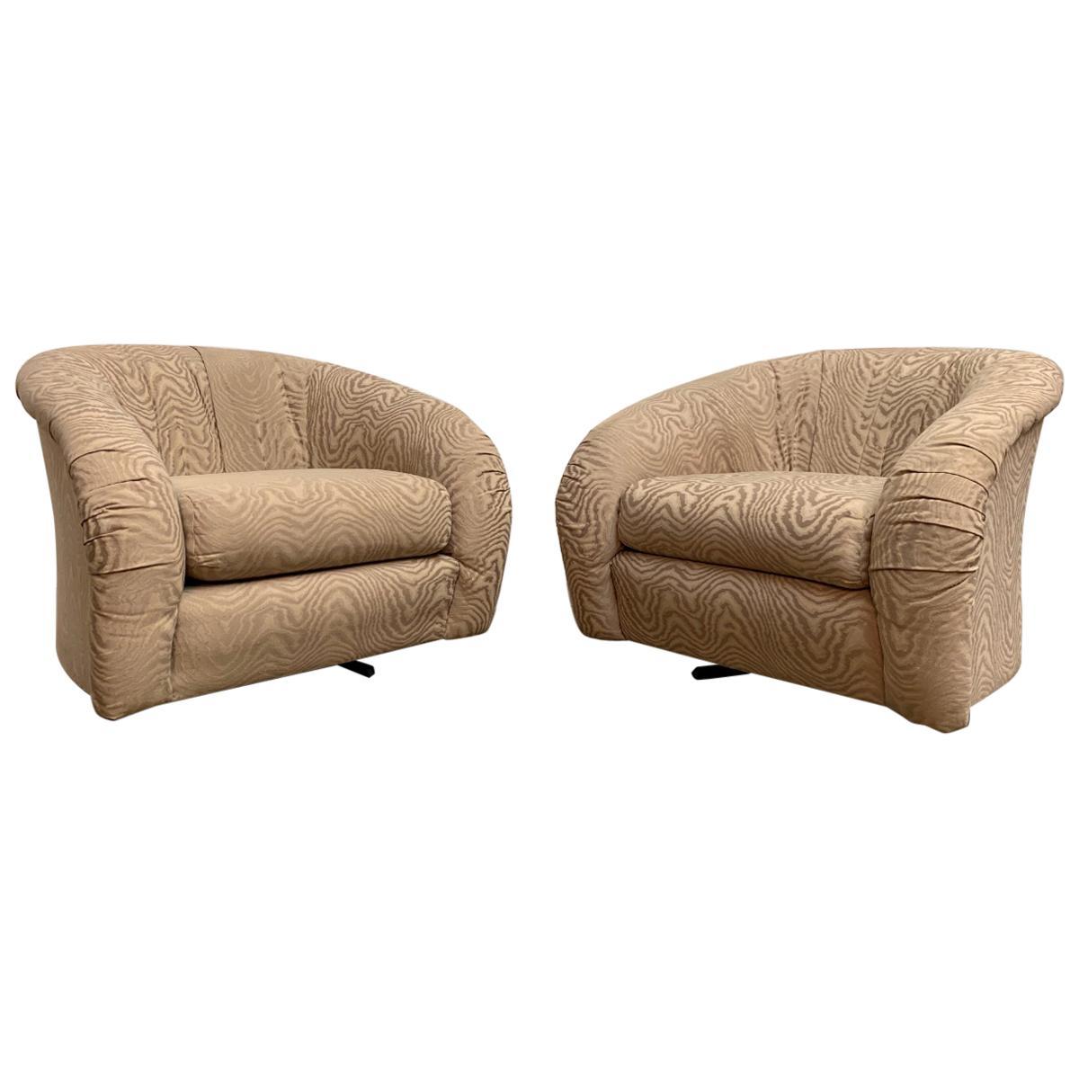 1980s Swivel Lounge Chairs