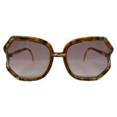 1980s Ted Lapidus Tortoise Sunglasses