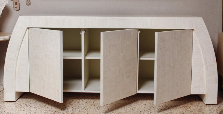 1980s Tessellated Bone Credenza by Enrique Garces, Colombia For Sale 4