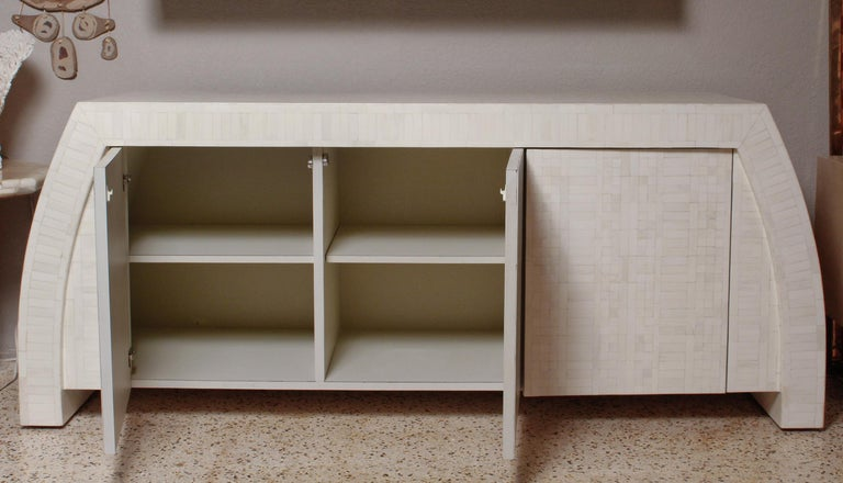 1980s Tessellated Bone Credenza by Enrique Garces, Colombia For Sale 5