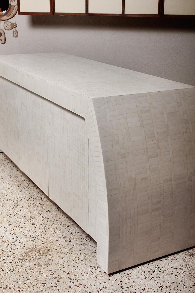 1980s Tessellated Bone Credenza by Enrique Garces, Colombia For Sale 2