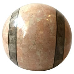 1980s Tessellated Stone Sphere