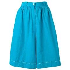 1980s Thierry Mugler Light Blue Shorts