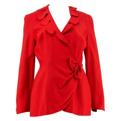 1980s Thierry Mugler Red Jacket