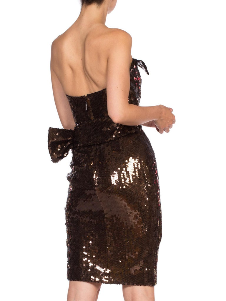 1980S Thierry Mugler Sequin Beaded Strapless Cocktail Dress1980S THIERRY MUGLER  For Sale 5