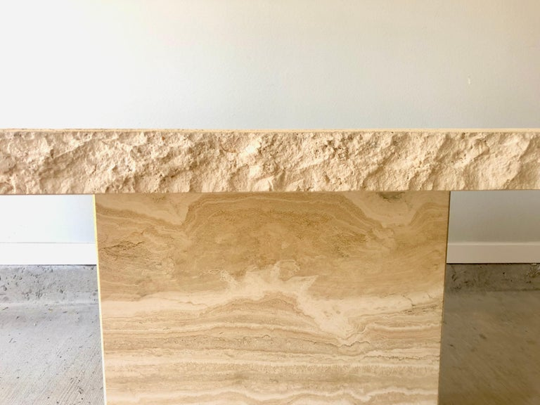 1980s Travertine Dining Table For Sale 5