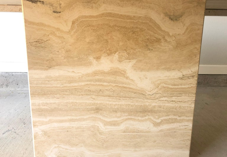 1980s Travertine Dining Table For Sale 6