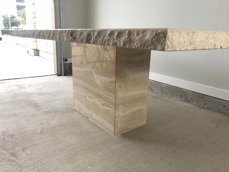 1980s Travertine Dining Table For Sale 7