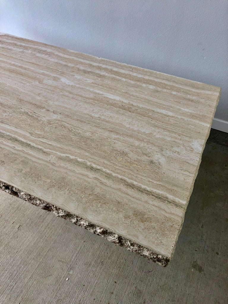 1980s Travertine Dining Table For Sale 8