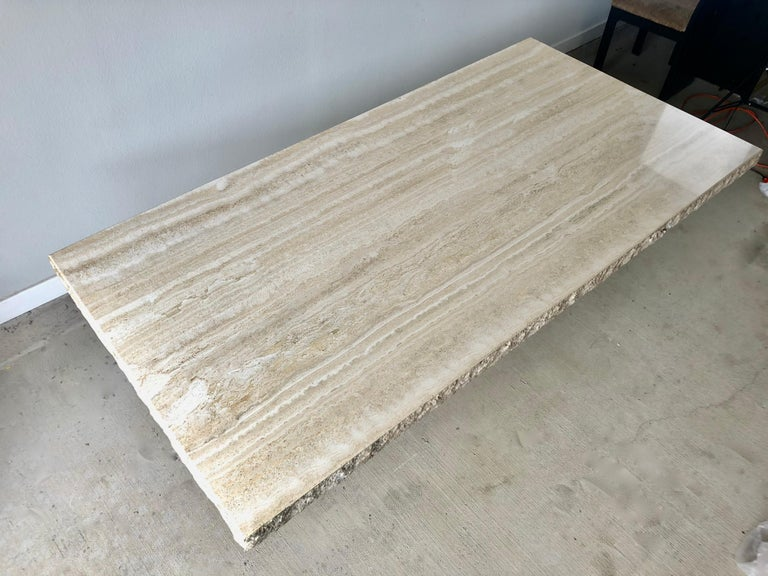 1980s Travertine Dining Table For Sale 9