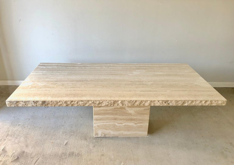 Modern 1980s Travertine Dining Table For Sale