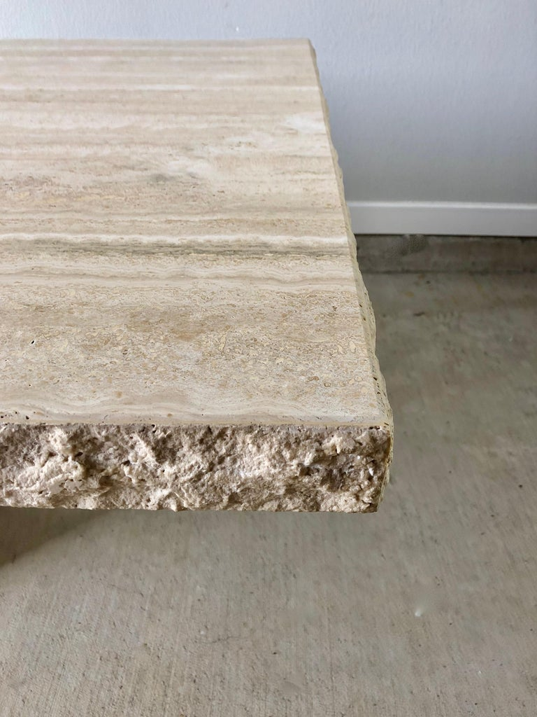 Late 20th Century 1980s Travertine Dining Table For Sale