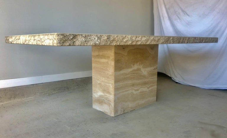 1980s Travertine Dining Table For Sale 2