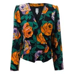 1980s Ungaro Floral Blazer