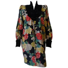 1980s Ungaro Floral Dress