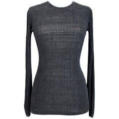1980s Valentino Boutique Silk Black Crew Neck Shirt