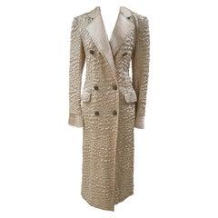 1980s Valentino cream coat