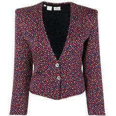 1980s Valentino Floral Short Blazer