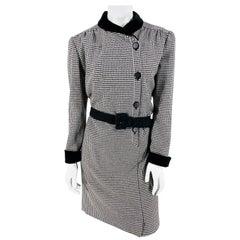 1980s Valentino Houndstooth Coat Dress