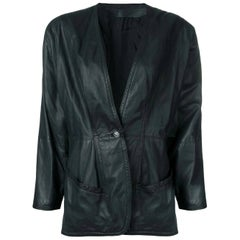 1980s Versace Leather Jacket