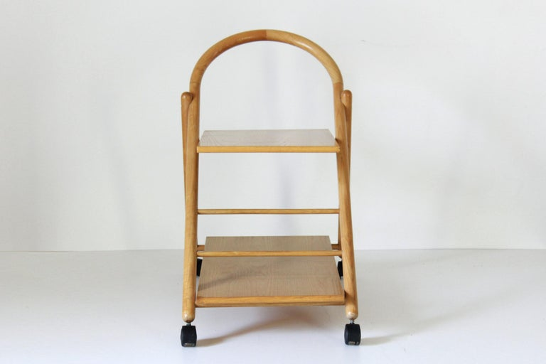 1980s Vintage Bar Cart with Solid Wood Structure In Good Condition For Sale In Ceglie Messapica, IT