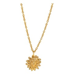 1980's Vintage Chanel Lions Head Gold Necklace