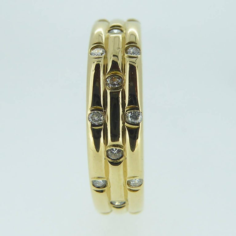 Round Cut 1980s Vintage Diamond Wedding or Eternity Ring, 18 Carat Gold For Sale