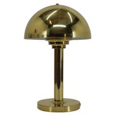 1980s Vintage Gold Lamp, Czechoslovakia