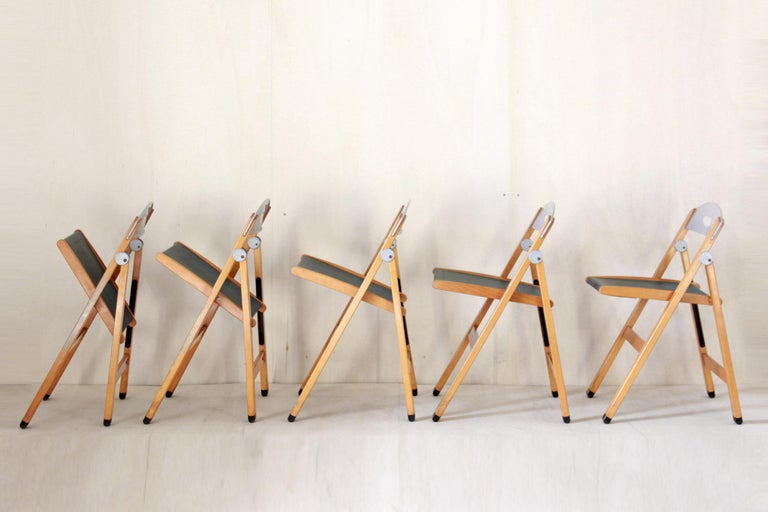 1980s Vintag Chairs by Foppapedretti, set of five For Sale 3