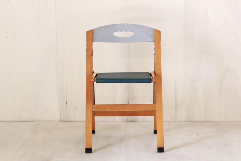 Mid-Century Modern 1980s Vintag Chairs by Foppapedretti, set of five For Sale