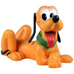 1980s Vintage Original Disney Pluto Plastic Nightlight by Heico Made in Germany