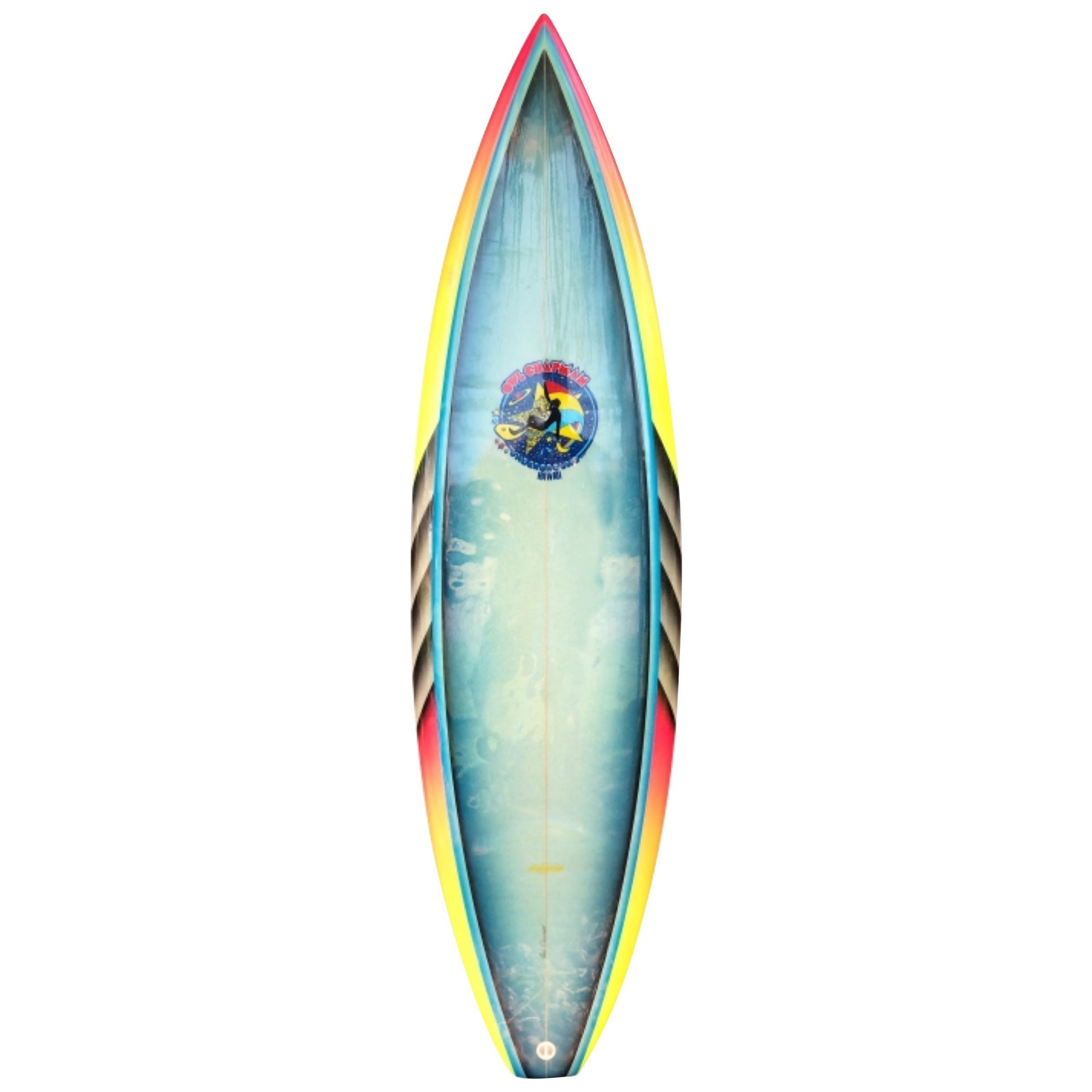 1980s Vintage Owl Chapman Underground Hawaii Surfboard